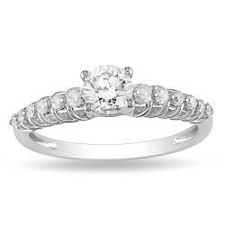 14k White Gold 3/4ct TDW Diamond Ring (G-H, I1-I2)