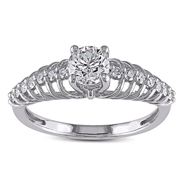 Miadora Signature Collection 14k White Gold 3/4ct TDW Diamond Ring (G-H, I2-I3)