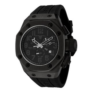Swiss Legend Men's Trimix Diver Black Silicone Chronograph Watch