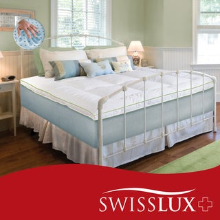 Swiss Lux Deluxe 3-inch Memory Foam Cluster and Fiber Mattress Topper