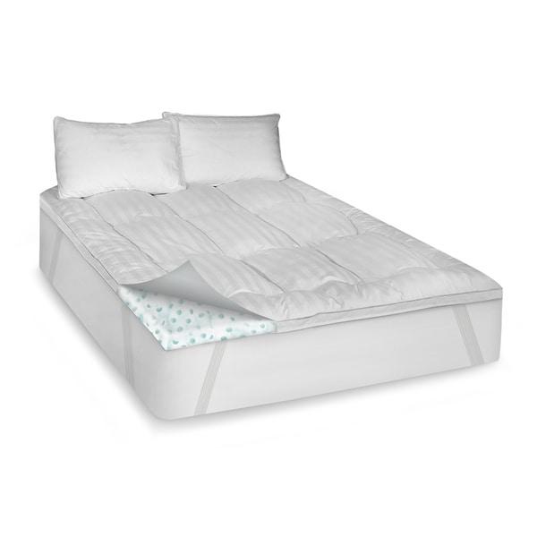 SwissLux Deluxe Cotton 3 inch Memory Foam and Fiber Blend