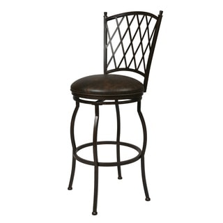 Augusta Black Wood Swivel Counter Stool 13420885