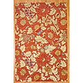 Hand-tufted Indo Rust/ Beige Wool Rug (6'6 x 10')