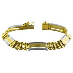 14k Two-tone Gold Men's Designer Bracelet