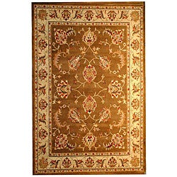 Hand-tufted Indo Brown/ Beige Wool Rug (8' x 10')