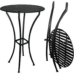 Easy to Assemble Iron Bar Table - Black