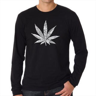 Los Angeles Pop Art Men's Leaf T-shirt