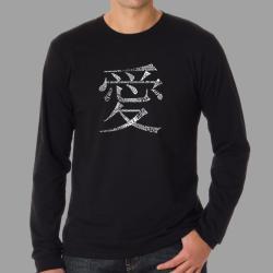 Los Angeles Pop Art Men's Chinese Love T-shirt