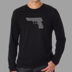 Los Angeles Pop Art Men's 'Gun' T-shirt