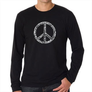 Los Angeles Pop Art Men's Black Peace Symbol T-Shirt