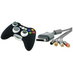 INSTEN Composite and S-video Cable/ Black Skin for Microsoft Xbox 360