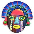 Ceramic 'Sunset Colors' Mask (Peru)