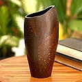 Coconut Shell 'Crackle' Vase (Indonesia)