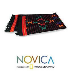 'Colorful Constellations' Cotton Table Runner (India)