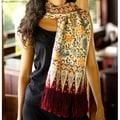 'Crimson Paradise' Silk Batik Scarf (Indonesia)