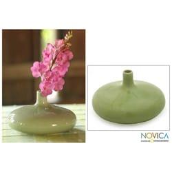 Celadon Ceramic 'Classic Green' Vase (Thailand)