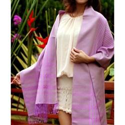 'Lavender Symphony' Cotton Shawl (Thailand)
