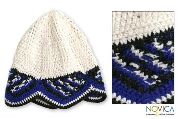 Alpaca Wool 'Winter Sky' Hat (Peru)