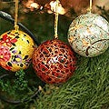 Set Of 4 'Joyful Symphony' Holiday Ornaments (India)