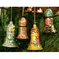 Set of 4 Wooden 'Holiday Melody' Ornaments (India)