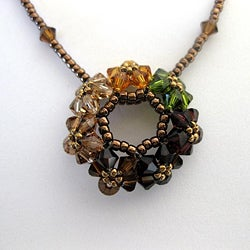 'Circle of Joy' Autumn Crystal Necklace (USA)