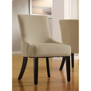 Westmont Sandstone Beige Velvet Decorative Chairs (Set of 2)