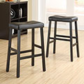 Nova Black Saddle Cushioned Seat 29-inch Bar Stools (Set of 2)