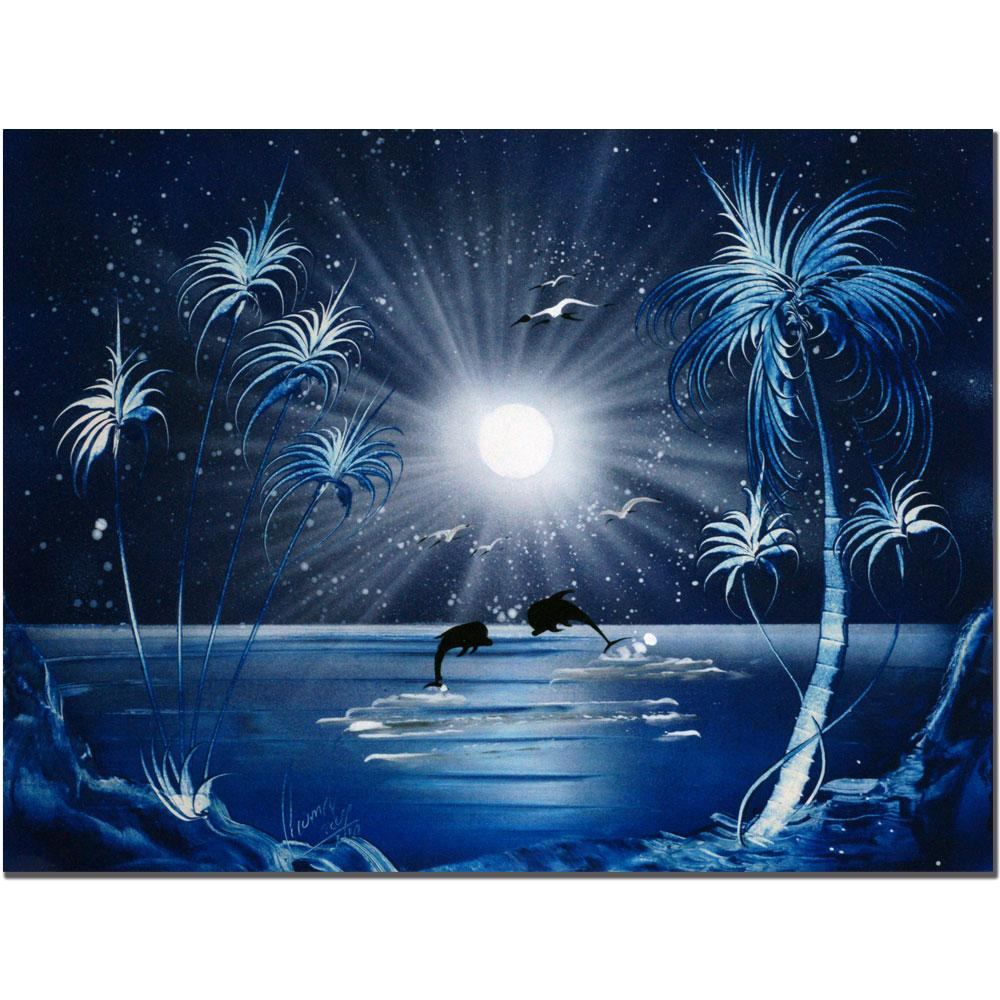 Conrad 'Dolphins at Night' Canvas Art