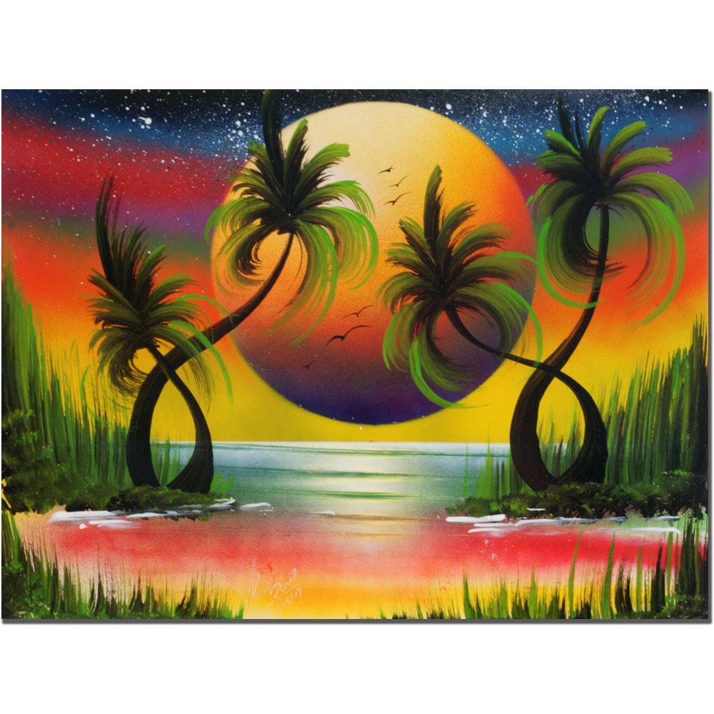 Conrad 'Lagoon Sunset' Canvas Art