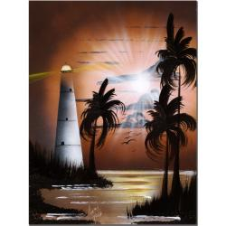 Conrad 'Lighthouse at Sunrise' Canvas Art