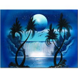 Conrad 'Moon Over the Waterfall I' Canvas Art