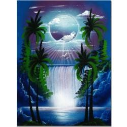 Conrad 'Moon Over the Waterfall II' Canvas Art