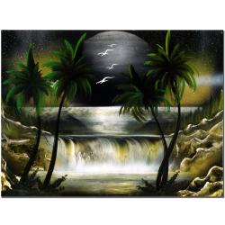 Conrad 'Moon Over the Waterfall III' Canvas Art