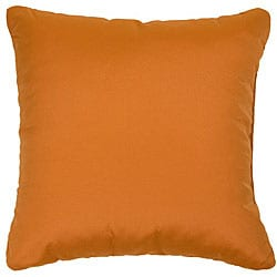 Tangerine 18-inch Knife-edged Outdoor Pillows with Sunbrella Fabric (Set of 2)