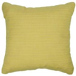 Cornsilk 18-inch Knife-edged Outdoor Pillows with Sunbrella Fabric (Set of 2)