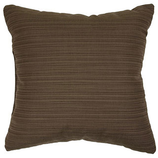 Walnut 18-inch Knife-edged Indoor/ Outdoor Pillows with Sunbrella Fabric (Set of 2)