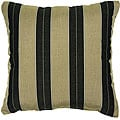 Cocoa/ Black 18-inch Knife-edged Outdoor Pillows with Sunbrella Fabric (Set of 2)