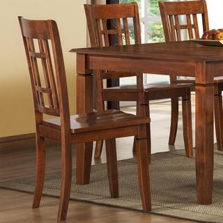 Athens Walnut Lattice-back Chairs (Set