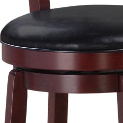 Courtney Cherry Finish 30-inch Swivel Bar Stool