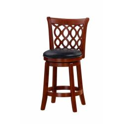 Allison Cherry Finish 24-inch Swivel Counter Stool