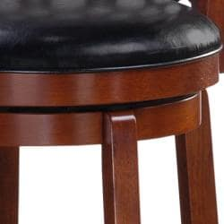 Allison Cherry Finish 30-inch Swivel Bar Stool