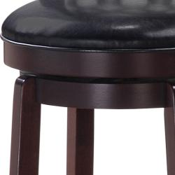 Allison Espresso Finish 24-inch Swivel Counter Stool