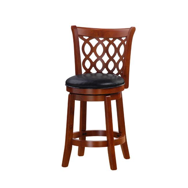 Allison Oak Finish 24-inch Swivel Counter Stool