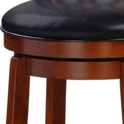 Allison Oak Finish 30-inch Swivel Barstool