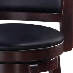 Chandler Espresso Finish 24-inch Swivel Counter Stool