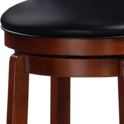 Chandler Oak Finish 24-inch Swivel Counter Stool