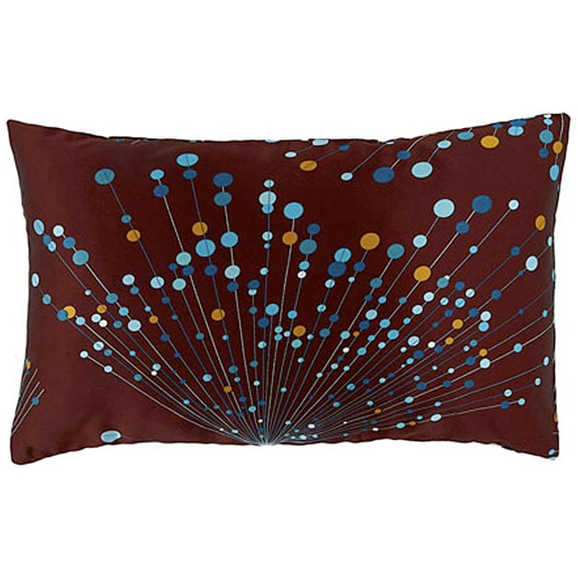 Faux Silk Brown and Turquoise Decorative Pillow