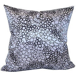 Faux Silk Black and White Decorative Pillow