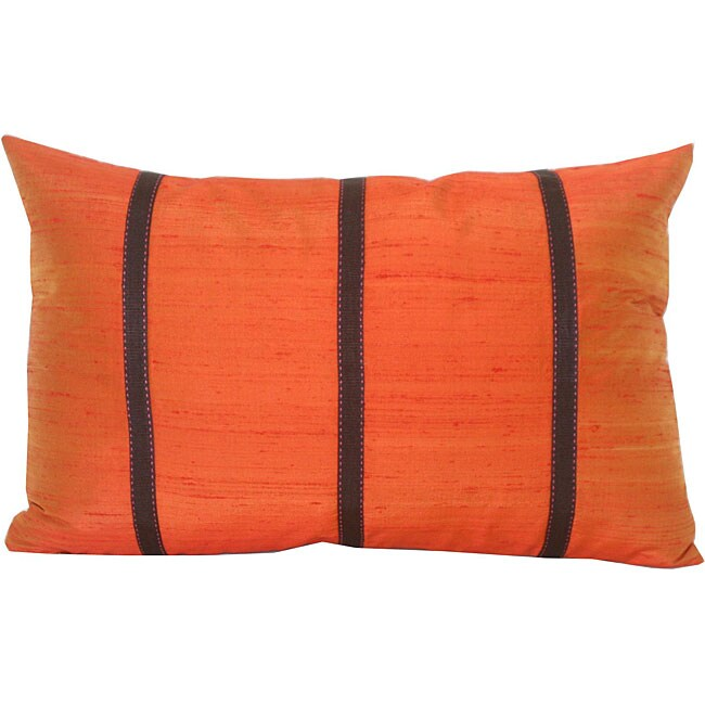 Silk Orange Decorative Pillow