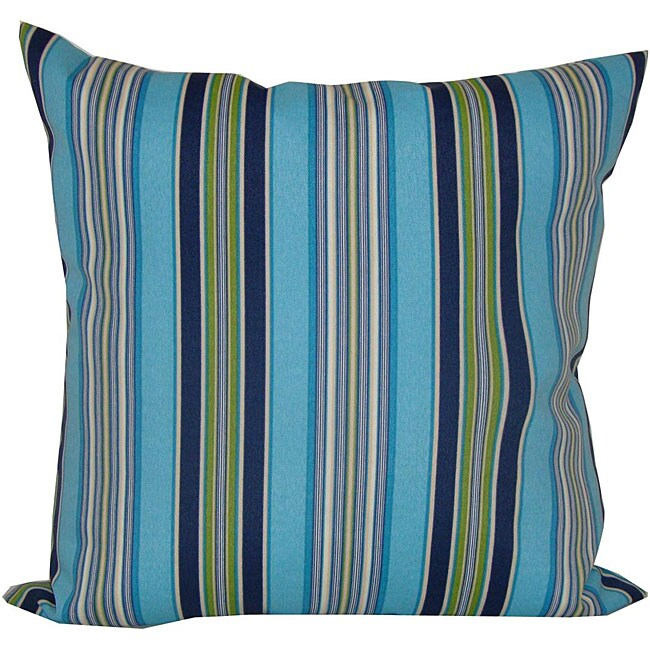20 x 20-inch Highway Outdoor Turquoise Decorative Pillow